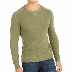 New mens XL club room pima green crewneck sweater